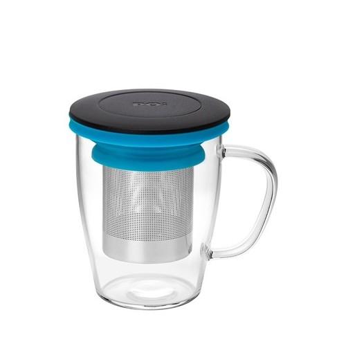 PO:Selected|丹麥泡茶玻璃杯350ml (黑+藍)