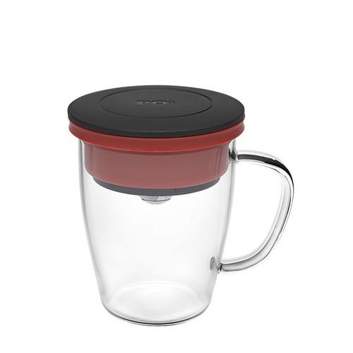 PO:Selected|丹麥研磨過濾咖啡玻璃杯350ml (黑+紅)