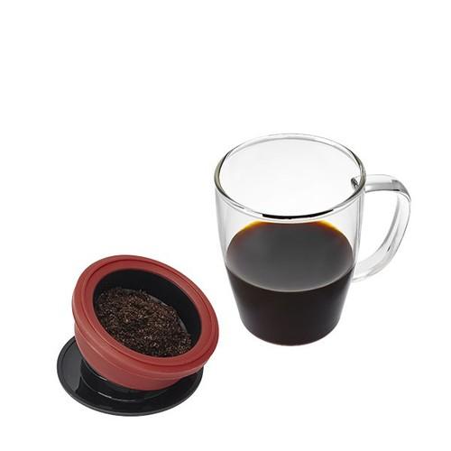 PO:Selected|丹麥研磨過濾咖啡玻璃杯350ml (黑)