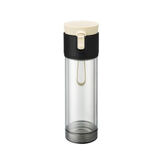 PO:Selected|丹麥雙層泡茶防摔隨手杯(外杯550ml,玻璃內杯360ml) (白)