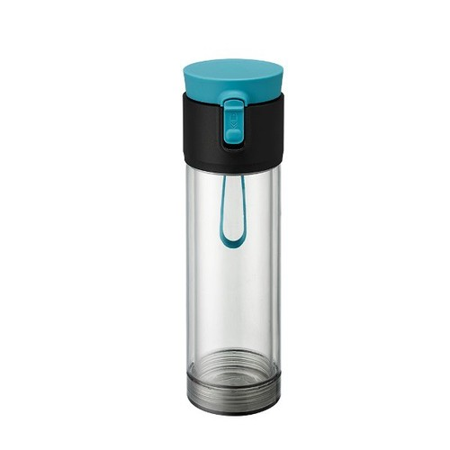 PO:Selected|丹麥雙層泡茶防摔隨手杯(外杯550ml,玻璃內杯360ml) (藍)