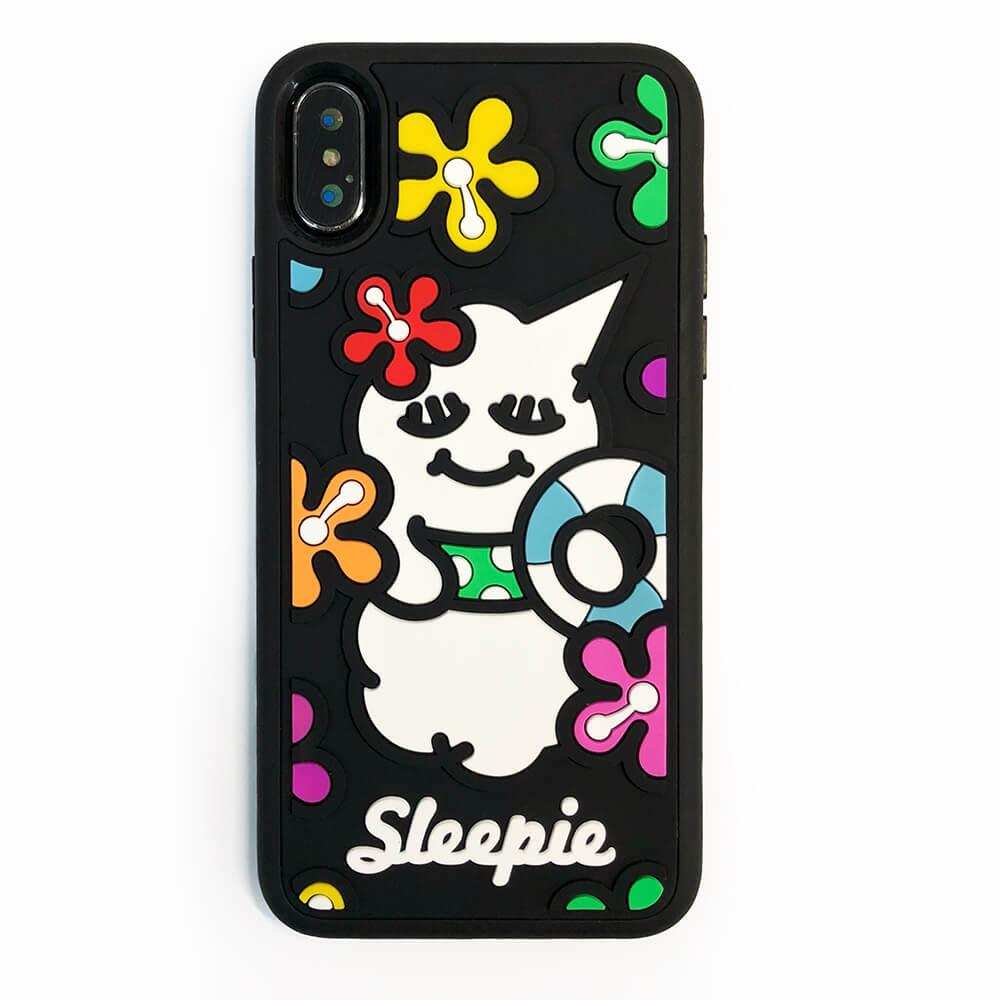 Candies|睡眠寶寶方型殼(夏日黑)-IPhone X/XS