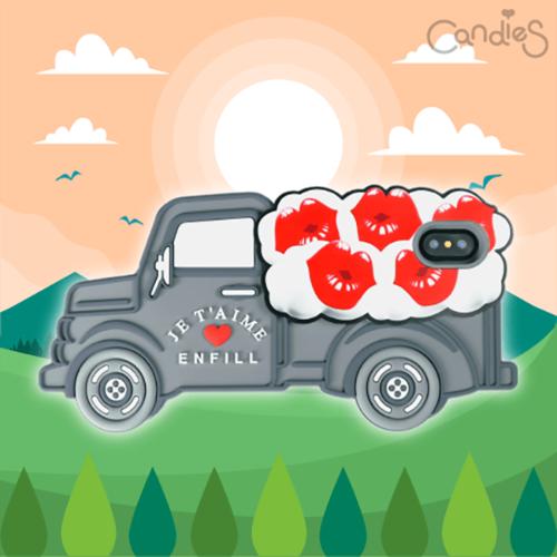 Candies|立體繽紛卡車手機殼(Lips)-IPhone X/XS