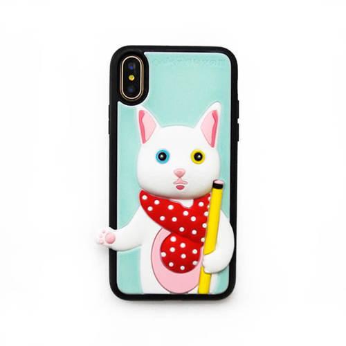 Candies|聯名款 銀的文具房 異瞳貓-IPhone X/XS