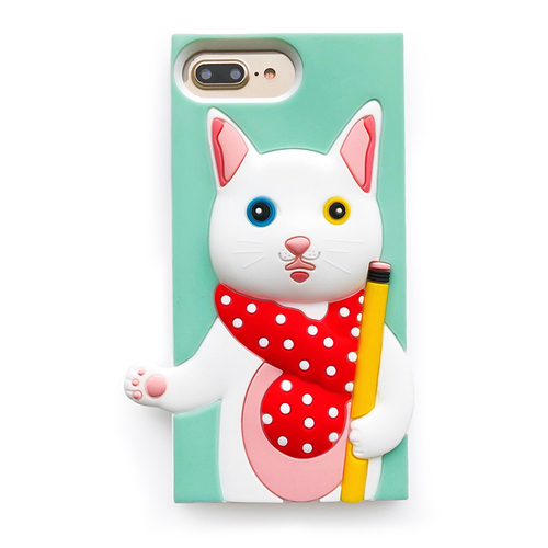 Candies|聯名款 銀的文具房 異瞳貓-IPhone 7 Plus/IPhone 8 Plus