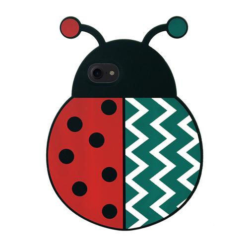 Candies|2016聖誕限定瓢蟲手機殼(白條紋)-IPhone 7/IPhone 8