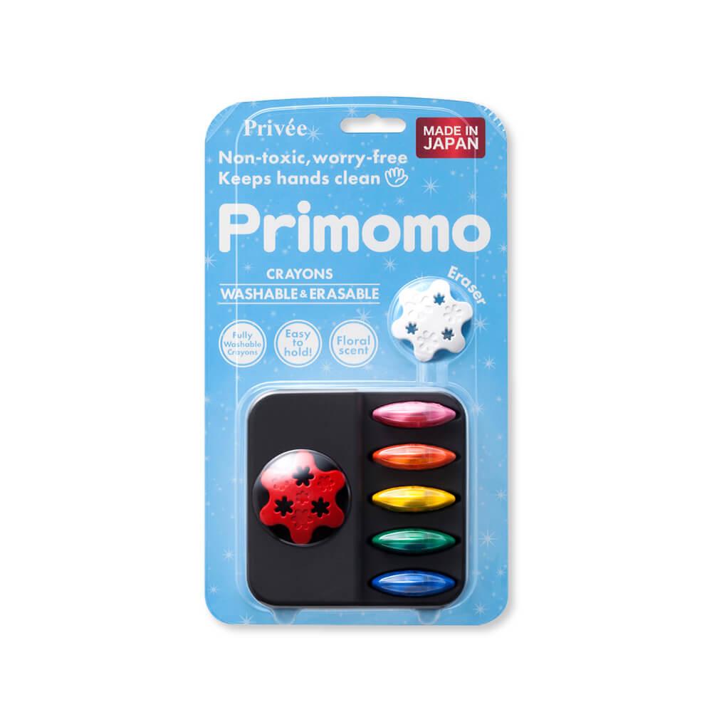 Primomo|普麗貓趣味蠟筆6色(花瓣) - 附橡皮擦