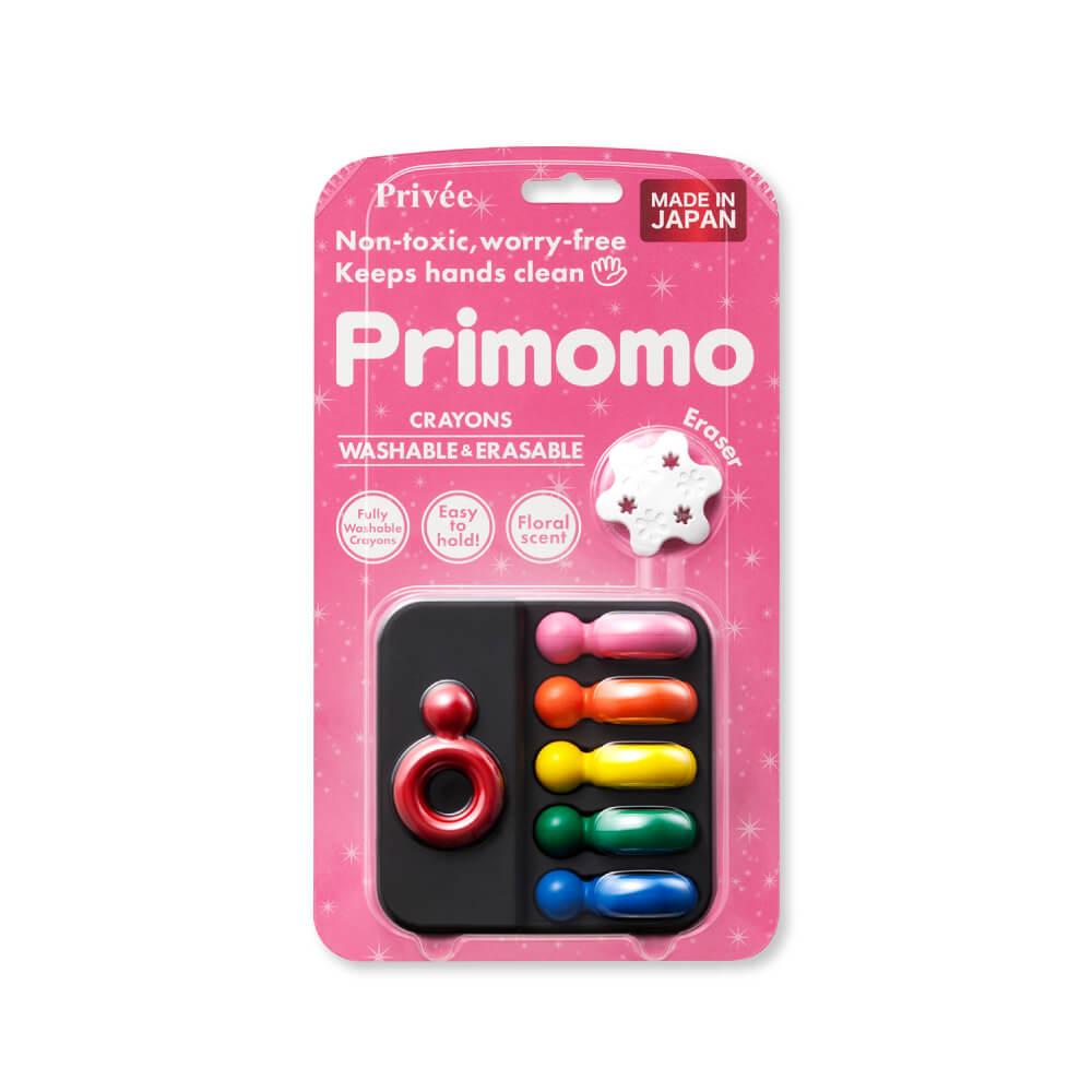 Primomo|普麗貓趣味蠟筆6色(戒指) - 附橡皮擦
