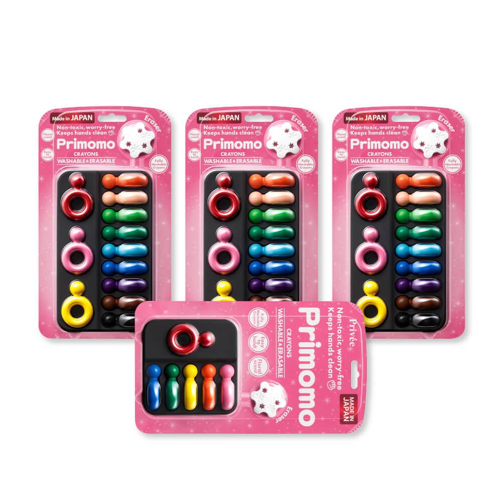 Primomo|普麗貓趣味蠟筆買三送一組合(戒指三入)