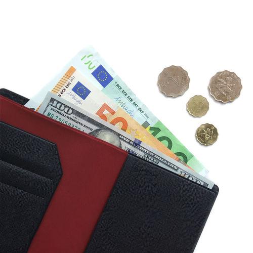 FENICE|可放鈔票式護照套 S size(深藍)