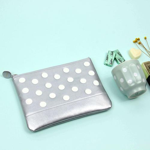 FENICE|點點造型隨身收納袋(銀)