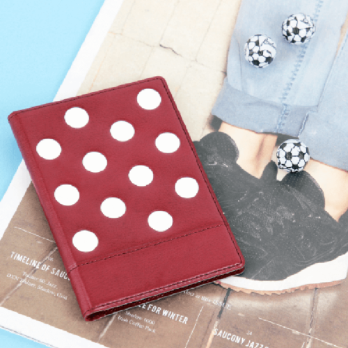 FENICE 點點造型證件護照套(紅)