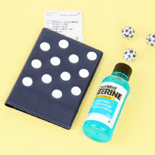 FENICE|點點造型證件護照套(深藍)
