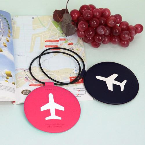 FENICE|飛機造型行李吊牌(深藍)