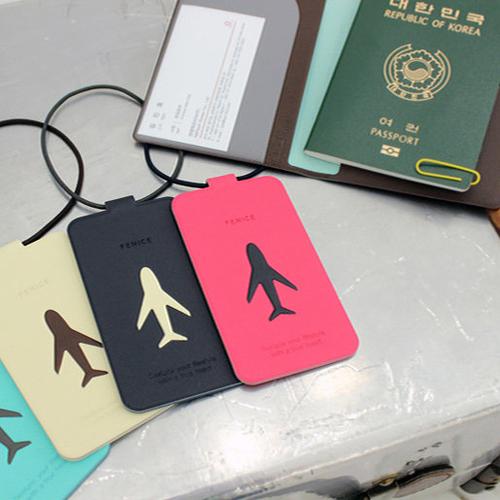 FENICE|飛機旅行吊牌(桃紅)