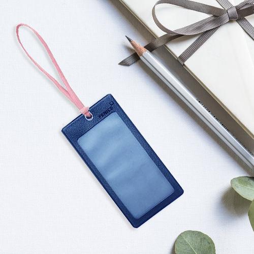 FENICE|透明視窗行李吊牌(海軍藍+粉)