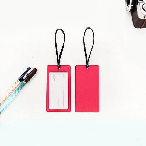 FENICE|透明視窗行李吊牌(桃+紫)