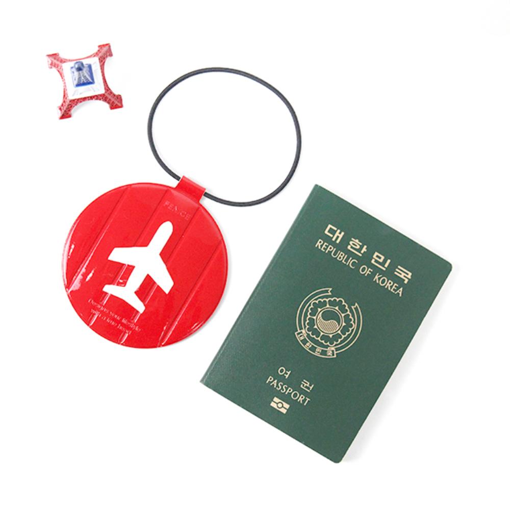 FENICE 耐衝擊行李吊牌(紅)