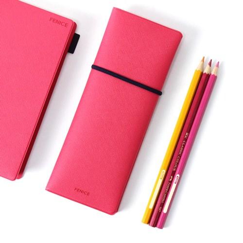 FENICE|雙開式筆盒(桃+紫)