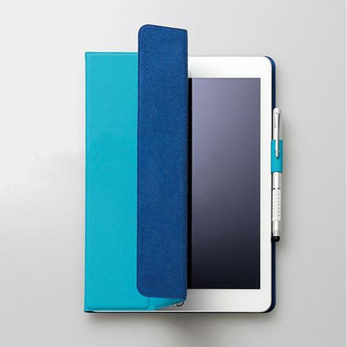 FENICE|超薄型黏貼式I PAD 9.7吋保護皮套(土耳其藍)