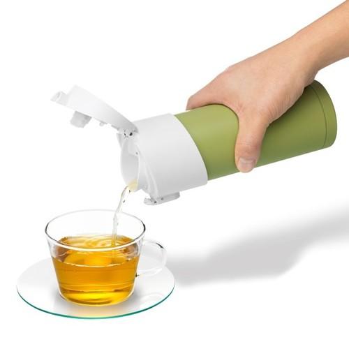 PO:Selected|丹麥掀蓋12oz保溫泡茶杯(天空藍-白蓋)