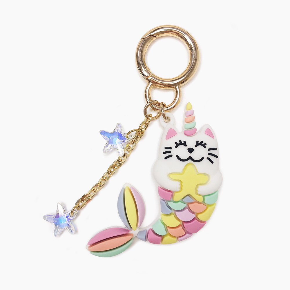 Candies|Happy Charm 彩虹MerMeow貓鑰匙圈