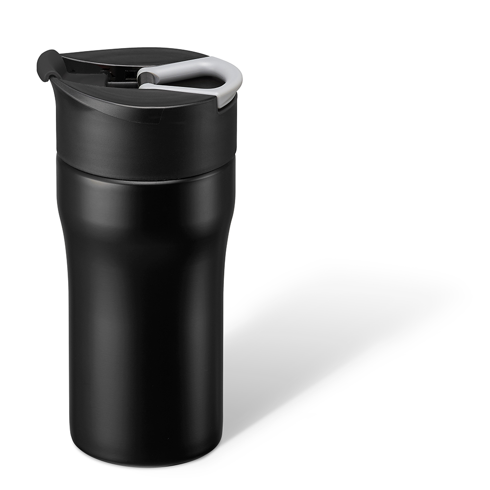 PO:Selected 丹麥便攜法壓保溫咖啡杯12oz (黑)