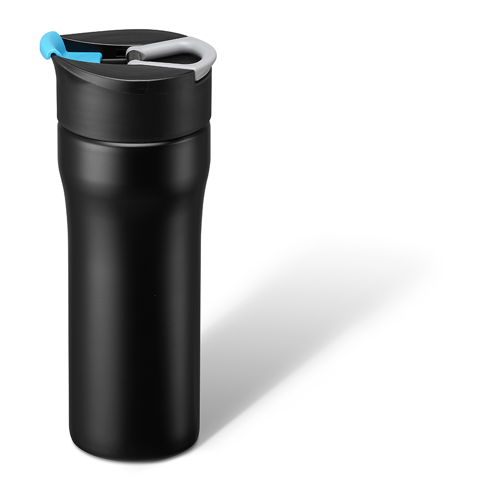 PO:Selected 丹麥便攜法壓保溫咖啡杯16oz (藍)