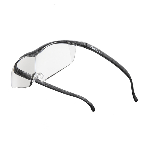 Hazuki|日本Hazuki葉月透明眼鏡式放大鏡1.6倍大鏡片(黑灰)