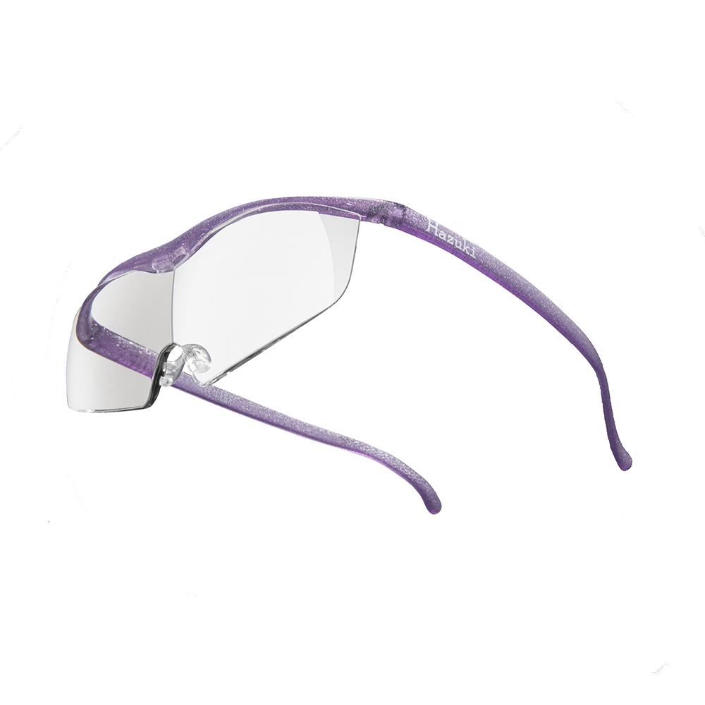 Hazuki 日本Hazuki葉月透明眼鏡式放大鏡1.6倍大鏡片(亮紫)