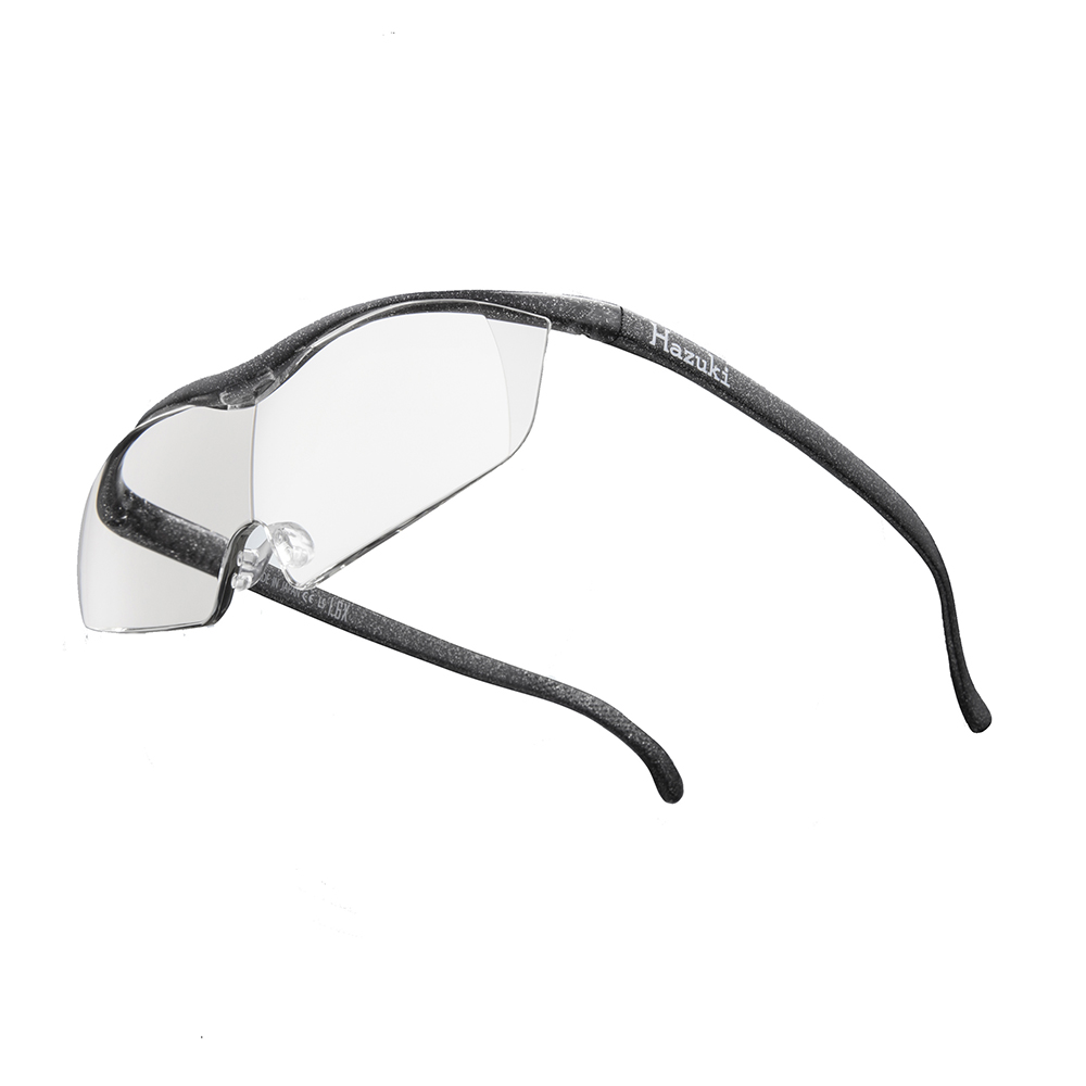 Hazuki|日本Hazuki葉月透明眼鏡式放大鏡1.85倍大鏡片(黑灰)