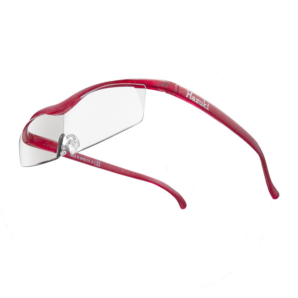 Hazuki|日本Hazuki葉月透明眼鏡式放大鏡1.32倍標準鏡片(亮紅)