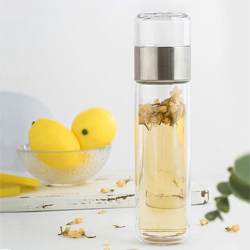 PO:Selected|丹麥攜帶式雙層玻璃泡茶杯200ml (Crystal)