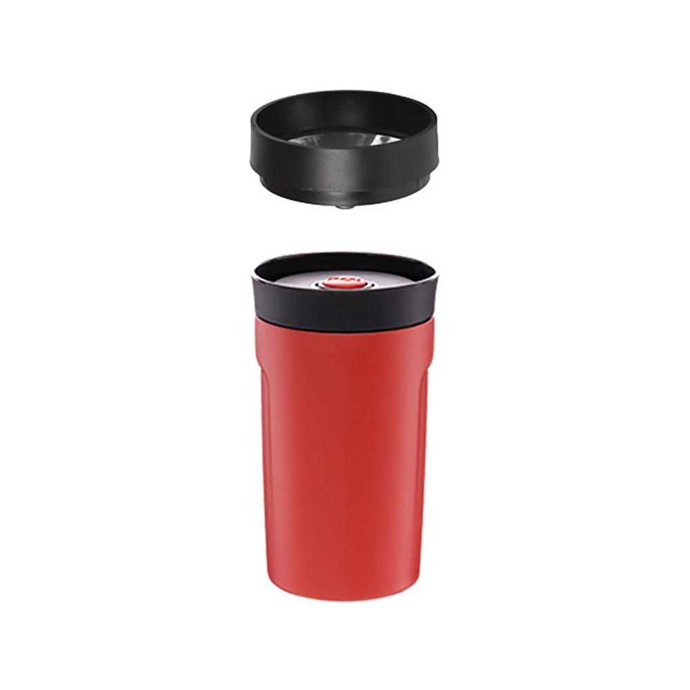 PO:Selected|丹麥360度飲用隨行保溫咖啡杯350ml(紅)-附濾網