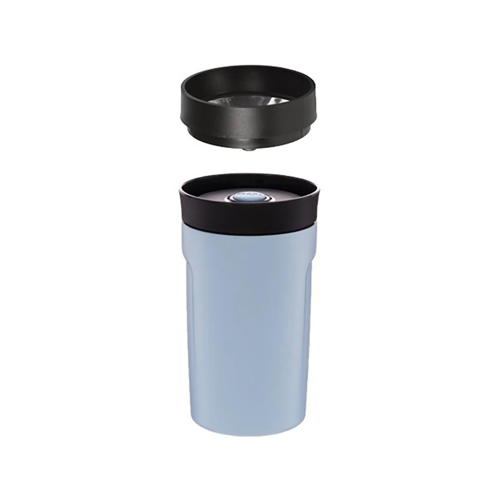 PO:Selected|丹麥360度飲用隨行保溫咖啡杯350ml(藍)-附濾網