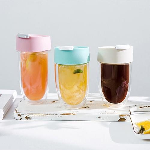 PO:Selected 丹麥奇法雙層玻璃杯325ml(粉)