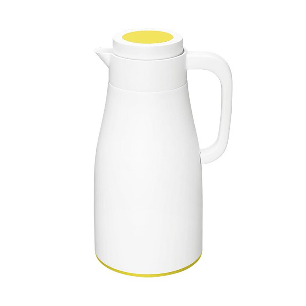 PO:Selected 丹麥直立密封保溫壼1000ml(玻璃內膽)-白身黃蓋