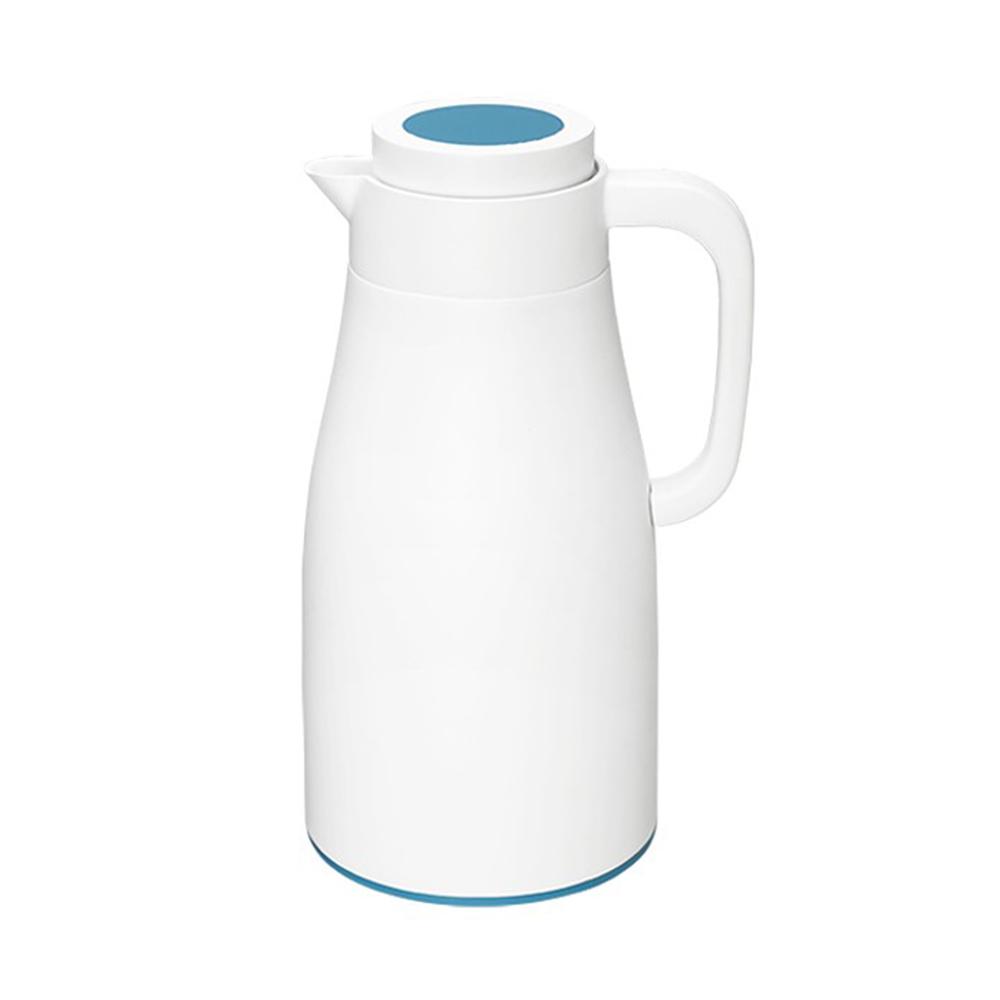 PO:Selected|丹麥直立密封保溫壼1000ml(玻璃內膽)-白身藍蓋