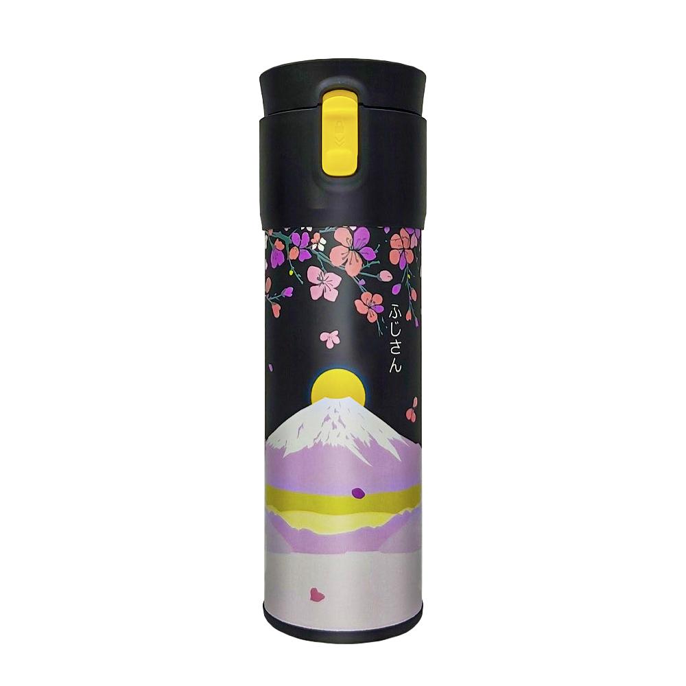 PO:Selected|丹麥保溫泡茶杯470ml(黃)-日出富士山