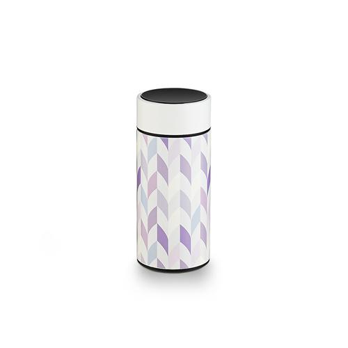 PO:Selected|丹麥溫度智能杯260ml (菱格條紋-白)