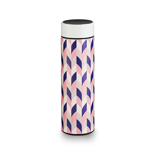 PO:Selected|丹麥溫度智能杯460ml (菱格條紋-粉)