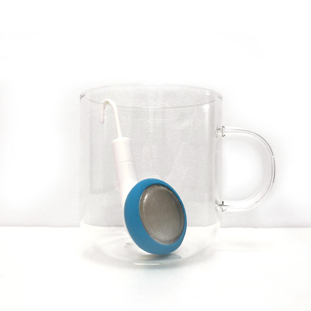 PO:Selected|丹麥耳機造型泡茶器(藍)