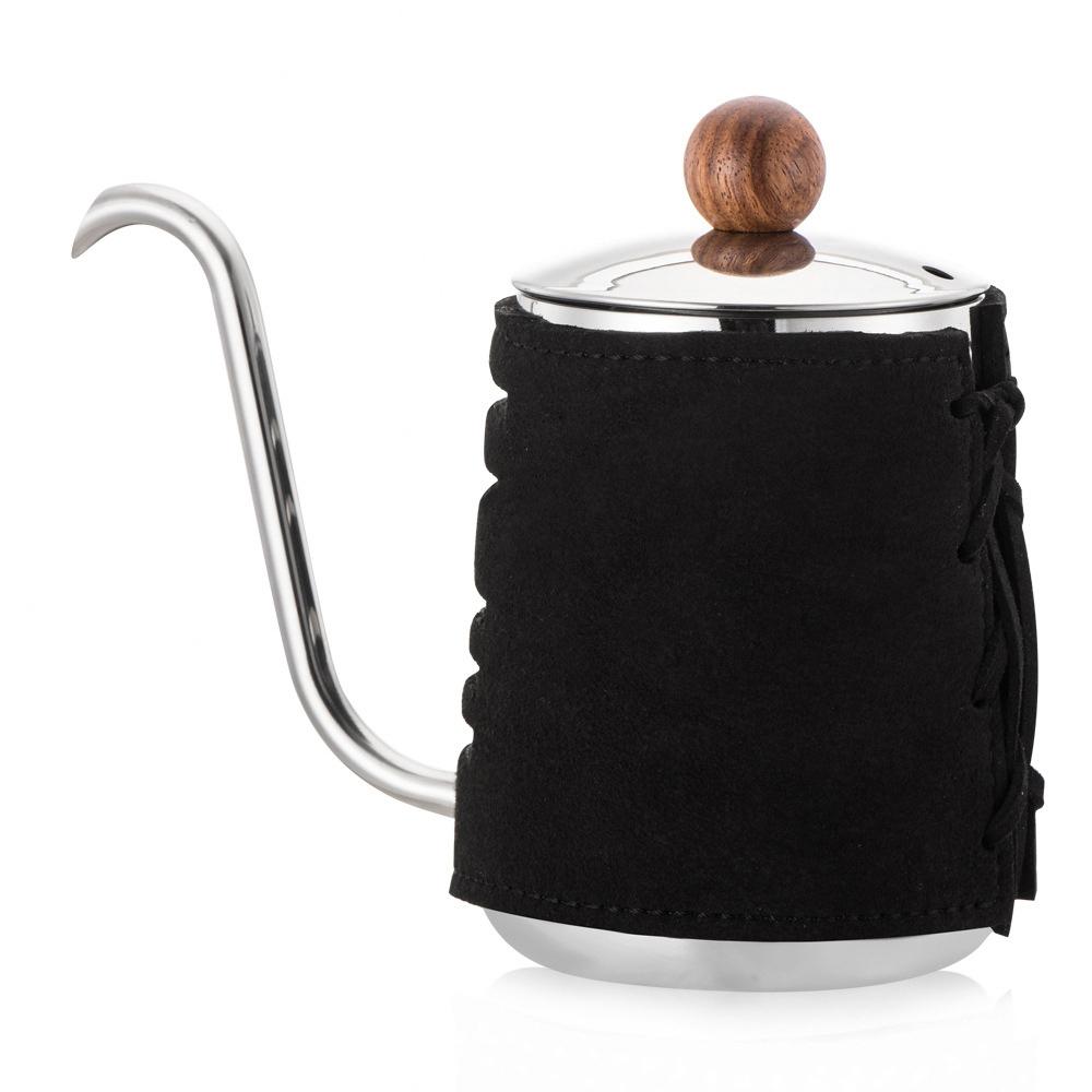 PO:Selected 丹麥POx黑沃耶加雪菲咖啡禮盒組(手沖壺-黑/咖啡杯350ml-黑綠)