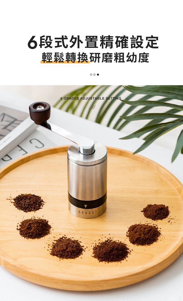 PO:Selected|丹麥手沖咖啡禮盒組(手動不鏽鋼咖啡磨2.0/咖啡玻璃杯240ml-藍)