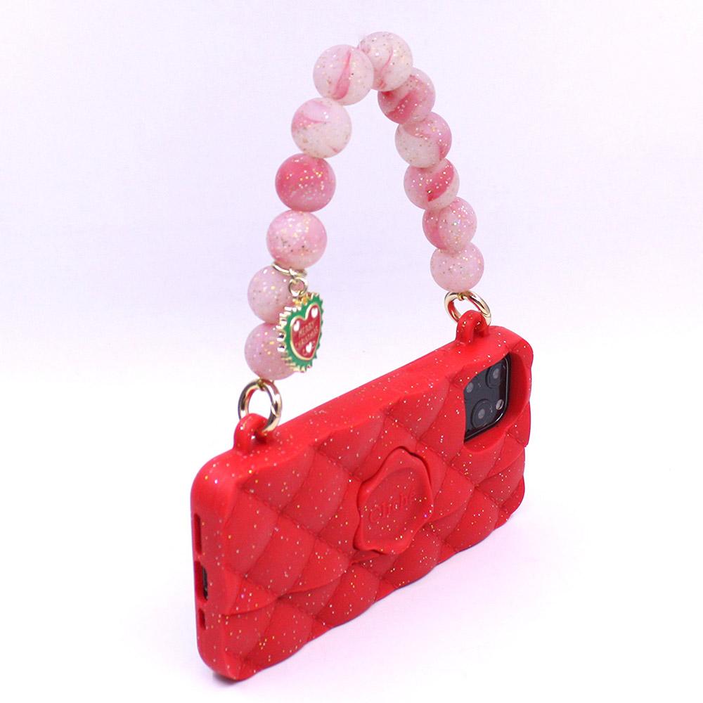 Candies|幻彩水晶手提晚宴包(紅)(附聖誕手鏈) - iPhone 11 Pro