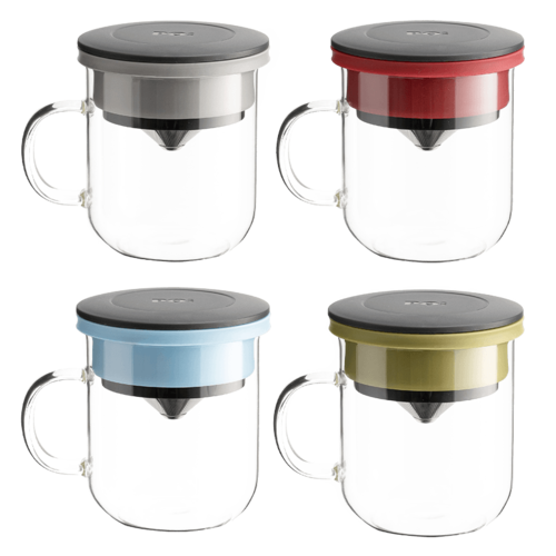 PO:Selected|丹麥手沖咖啡三件禮盒組(咖啡壺-駝/玻璃杯350ml-黑灰/咖啡磨2.0)