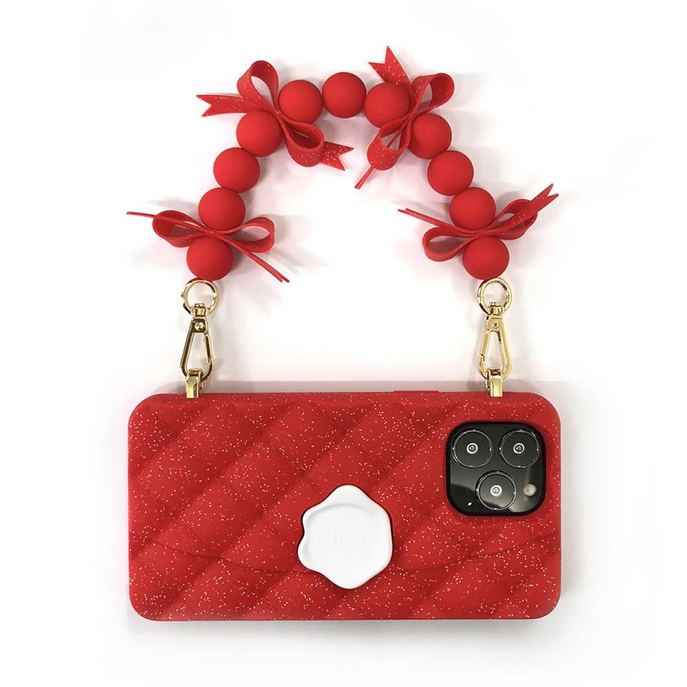 Candies|經典小香風晚宴包(紅) - iPhone 13 Pro Max