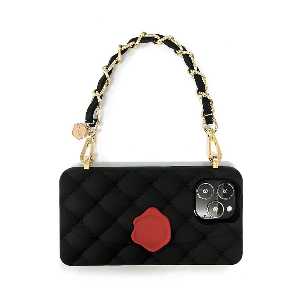 Candies 小香風經典晚宴包(黑) - iPhone 13 Pro Max