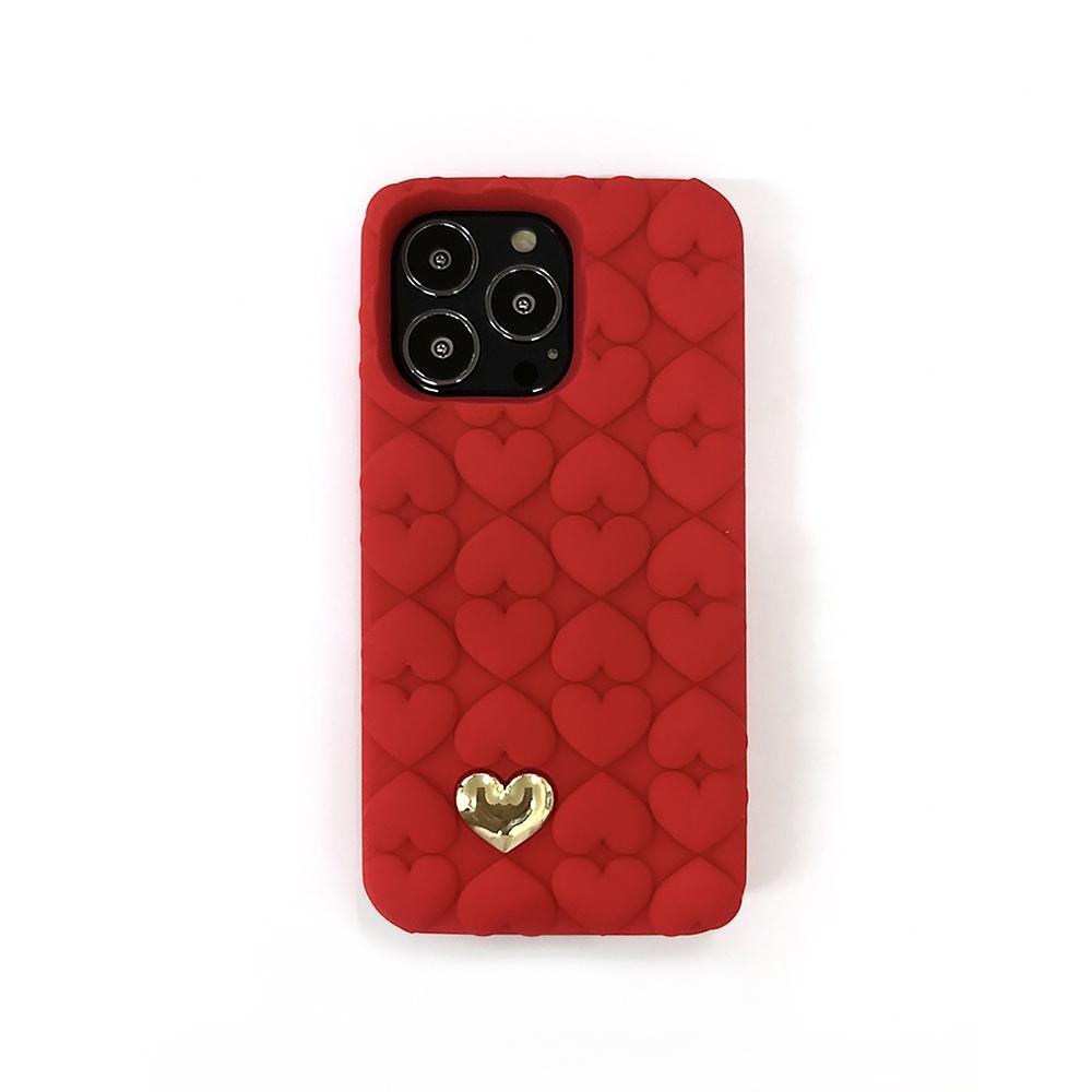 Candies 心心相印手機殼(紅) - iPhone 13 / 13 Pro