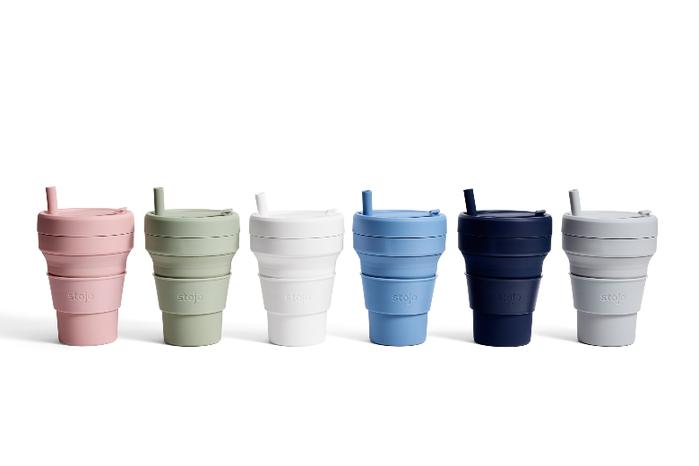 Stojo|折疊伸縮泰坦杯 24oz - 撫子粉(紐約Tribeca限定版)